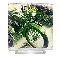 Harley Davidson Shower Curtain by Nina Prommer