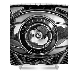 Harley-davidson Police B And W Shower Curtain