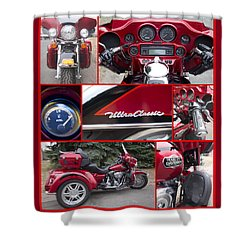 Harley Davidson Ultra Classic Trike Shower Curtain