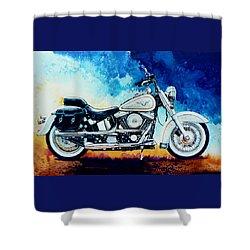 Harley Hog II Shower Curtain by Hanne Lore Koehler