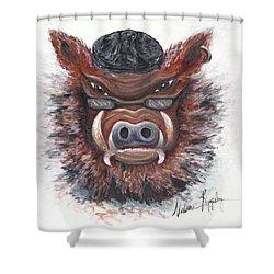 Harley Hog Shower Curtain by Nadine Rippelmeyer