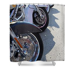 Harley Line Up 1 Shower Curtain