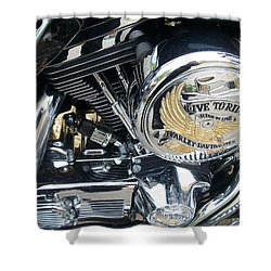 Harley Live To Ride Shower Curtain