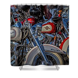 Shower Curtain featuring the photograph Harley Pair by Eleanor Abramson