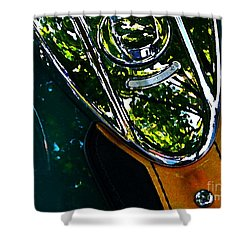 Harley Tank In Oils Shower Curtain by Chris Berry