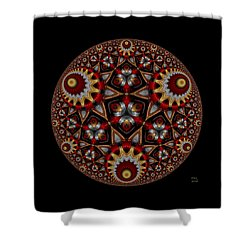 Shower Curtain featuring the digital art Harmonia by Manny Lorenzo
