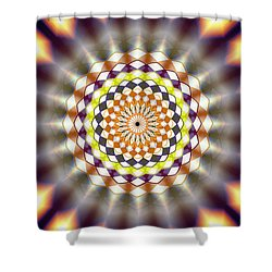 Shower Curtain featuring the drawing Harmonic Sphere Of Energy by Derek Gedney