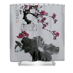 Shower Curtain featuring the photograph Harmony And Beauty by Yufeng Wang