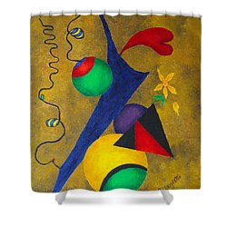 Harmony Shower Curtain by Pamela Allegretto