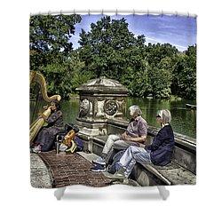 Harpist - Central Park Shower Curtain by Madeline Ellis