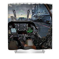 Harrier Cockpit Shower Curtain