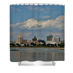 Harrisburg Skyline Shower Curtain by Ed Sweeney