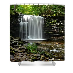 Harrison Wright Falls Shower Curtain by Frozen in Time Fine Art Photography