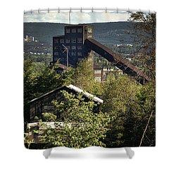 Harry E Colliery Swoyersville Pa Summer 1994 Shower Curtain