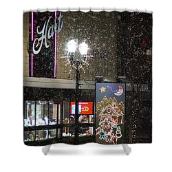 Hart In The Snow - Grants Pass Shower Curtain by Mick Anderson