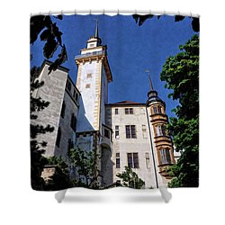 Shower Curtain featuring the photograph Hartenfels Castle - Torgau Germany by Mark Madere