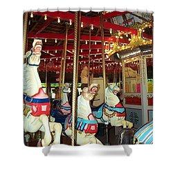 Shower Curtain featuring the photograph Hartford Carousel by Barbara McDevitt