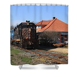 Hartwell Railroad Shower Curtain