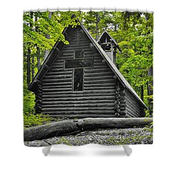 Hartwick Pines Chapel Bwg Shower Curtain