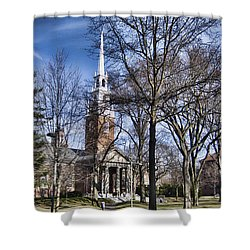 Harvard University Old Yard Church Shower Curtain