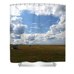 Shower Curtain featuring the photograph Harvest Blue  by Neal Eslinger