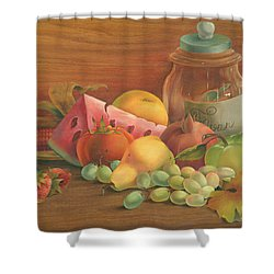 Harvest Fruit Shower Curtain