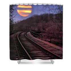 Harvest Moon Shower Curtain by Bill Cannon