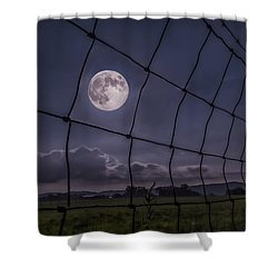 Shower Curtain featuring the photograph Harvest Moon by Jaki Miller