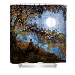 Harvest Moon Meditation Shower Curtain