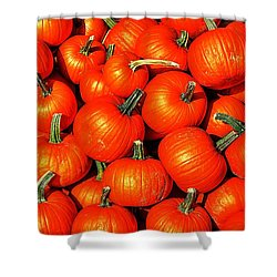 Harvest Party Shower Curtain by Benjamin Yeager