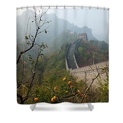 Harvest Time At The Great Wall Of China Shower Curtain