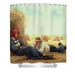 Harvest Time Shower Curtain by Julien Dupre