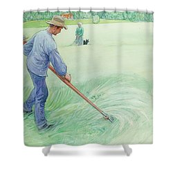 Harvesters Shower Curtain by Carl Larsson