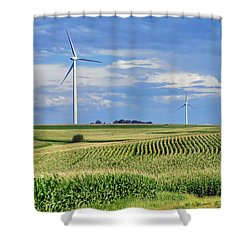 Harvests Shower Curtain by Nikolyn McDonald