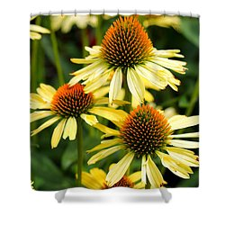 Harvest Moon Conehead Flower Shower Curtain