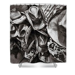 Hat Check Shower Curtain by Mark David Gerson