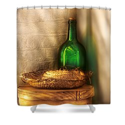 Hat Maker - A Hat Box And It's Hat  Shower Curtain by Mike Savad