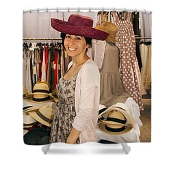 Hats Shower Curtain by Bob Phillips