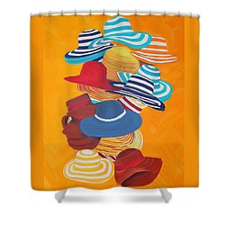 Hats Off Shower Curtain