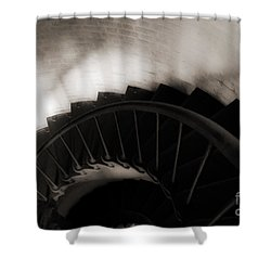 Shower Curtain featuring the photograph Hatteras Staircase by Angela DeFrias