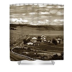 Hatton Ranch Carmel Valley From Highway One California  1940 Shower Curtain by California Views Mr Pat Hathaway Archives