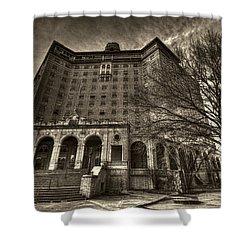 Haunted Baker Hotel Shower Curtain by Jonathan Davison