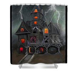 Haunted Shower Curtain by Glenn Holbrook