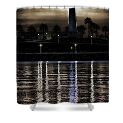 Haunted Lighthouse Shower Curtain by Mariola Bitner