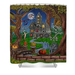 Haunted Mansion Shower Curtain by Glenn Holbrook