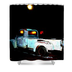 Shower Curtain featuring the digital art Haunted Truck by Cathy Anderson