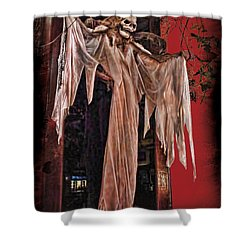 Hauntings Shower Curtain by Joan  Minchak