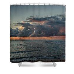Hauula Sunrise Panorama Shower Curtain