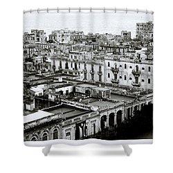 Havana City Shower Curtain by Shaun Higson