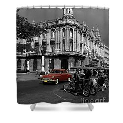 Havana Red Shower Curtain by James Brunker